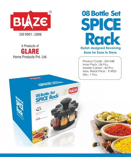 8 Bottle Set Spice Rack