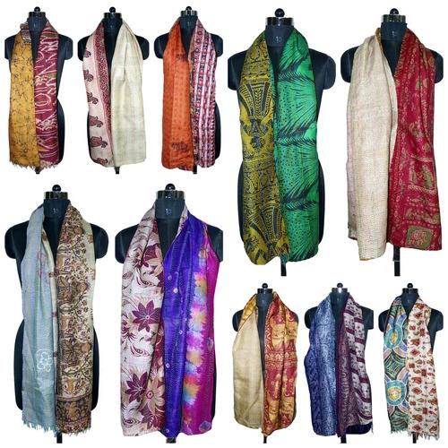 Kantha Allover Silk Scarves