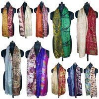 Designer Silk Kantha Allover Scarves
