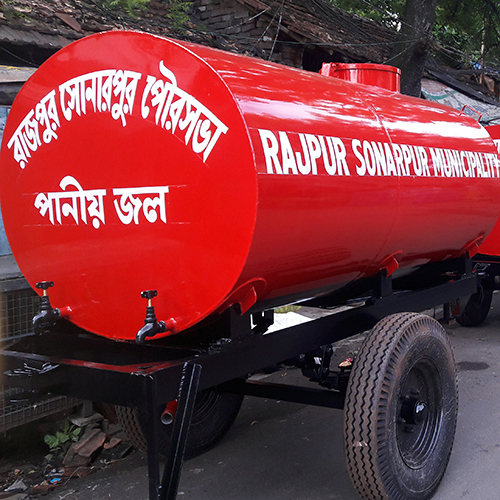 3000 Ltr Two Wheeler Water Tanker Trailer