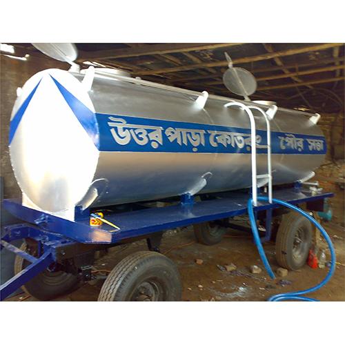 5000 Ltr  Four Wheeler Water Tanker Trailer