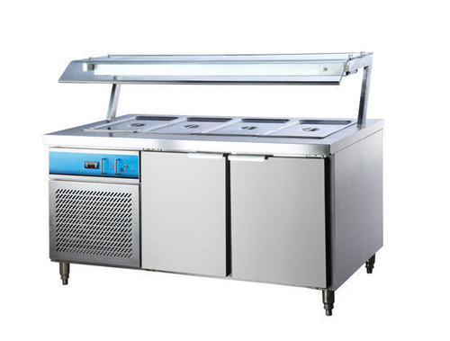 Cold Bain Marie With Overhead Shelf