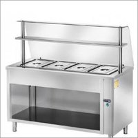 Hot Bain Marie With Overhead Shelf