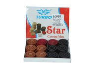 Carrom Men Wooden Star