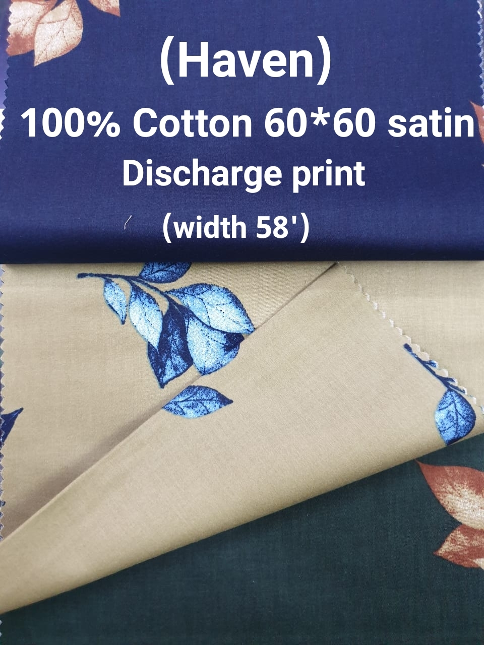 (HAVEN) 100% cotton 60*60 satin discharge print