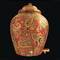 Copper Printed Water Pot