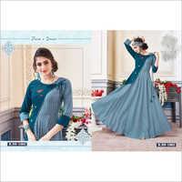 Ladies Angrakha Floor Length Gown