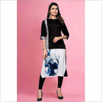 Ladies Crepe Fancy Kurti