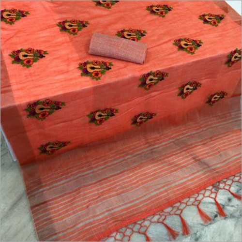 Ladies Pure Linen Saree