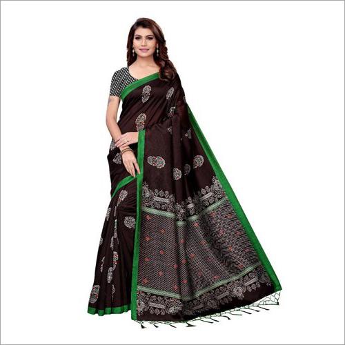Ladies Black Kalamkari Saree