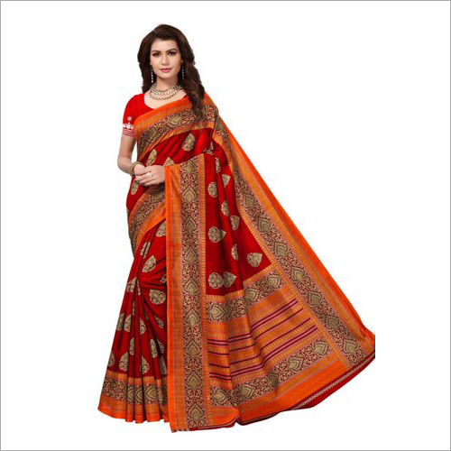 Ladies Bhagalpuri Silk Saree