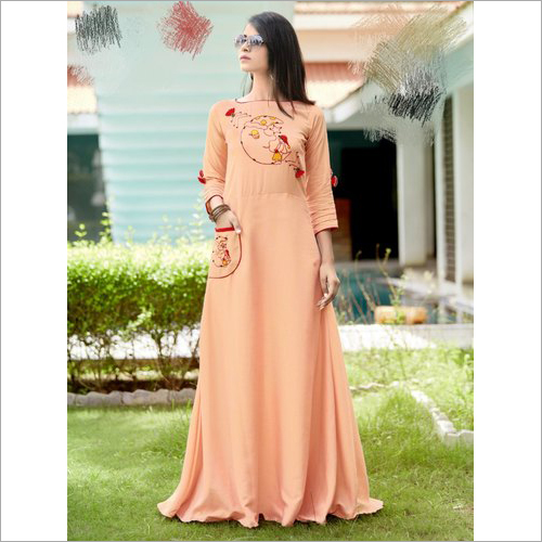 Ladies Rayon Gown