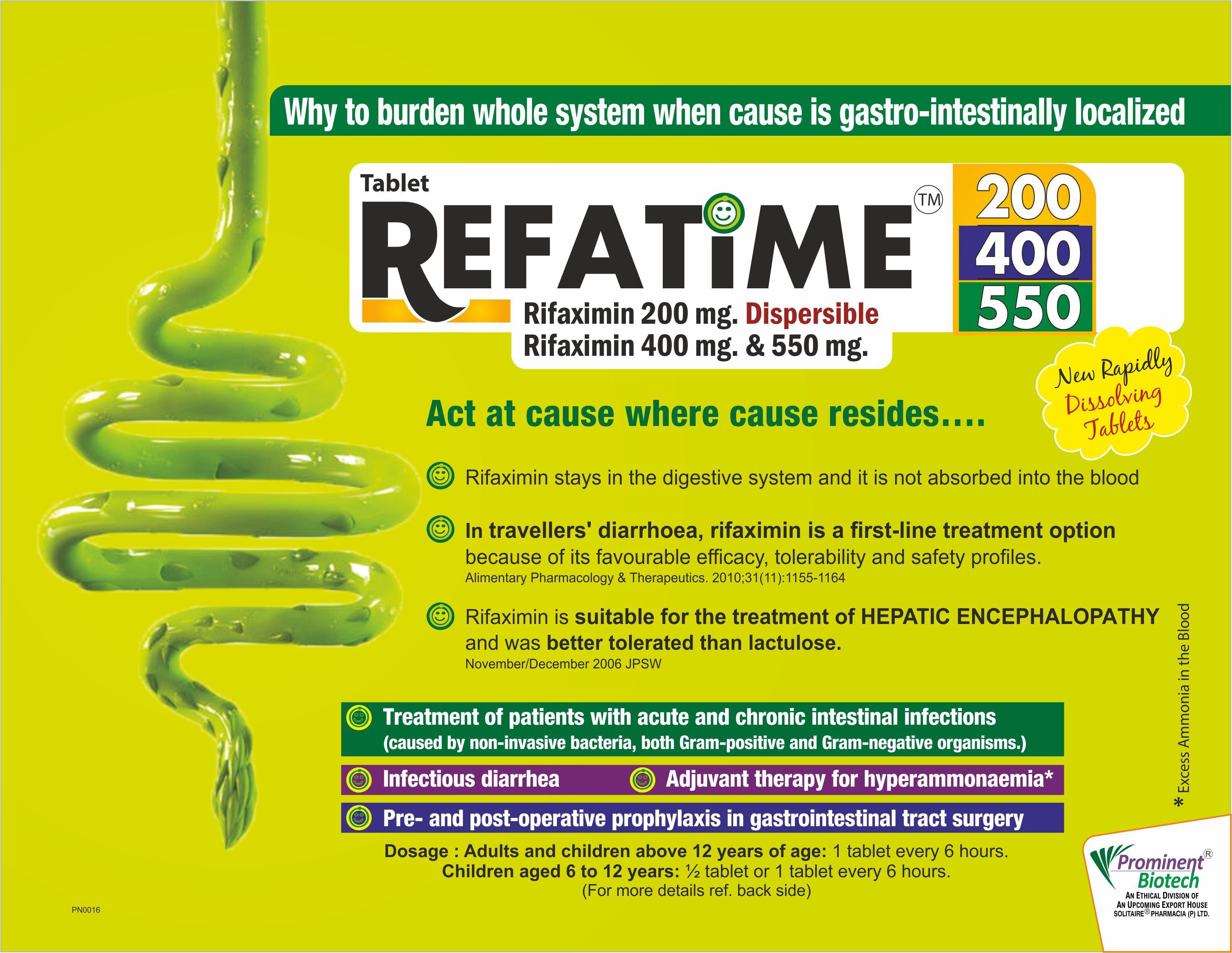 Rifaximin 200 mg,400 mg,550 mg