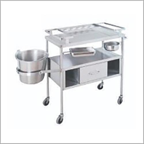 SS 2 Tier Kitchen Trolley
