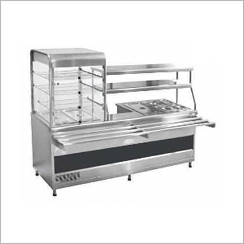 SS Hot Food Kitchen Display Counter