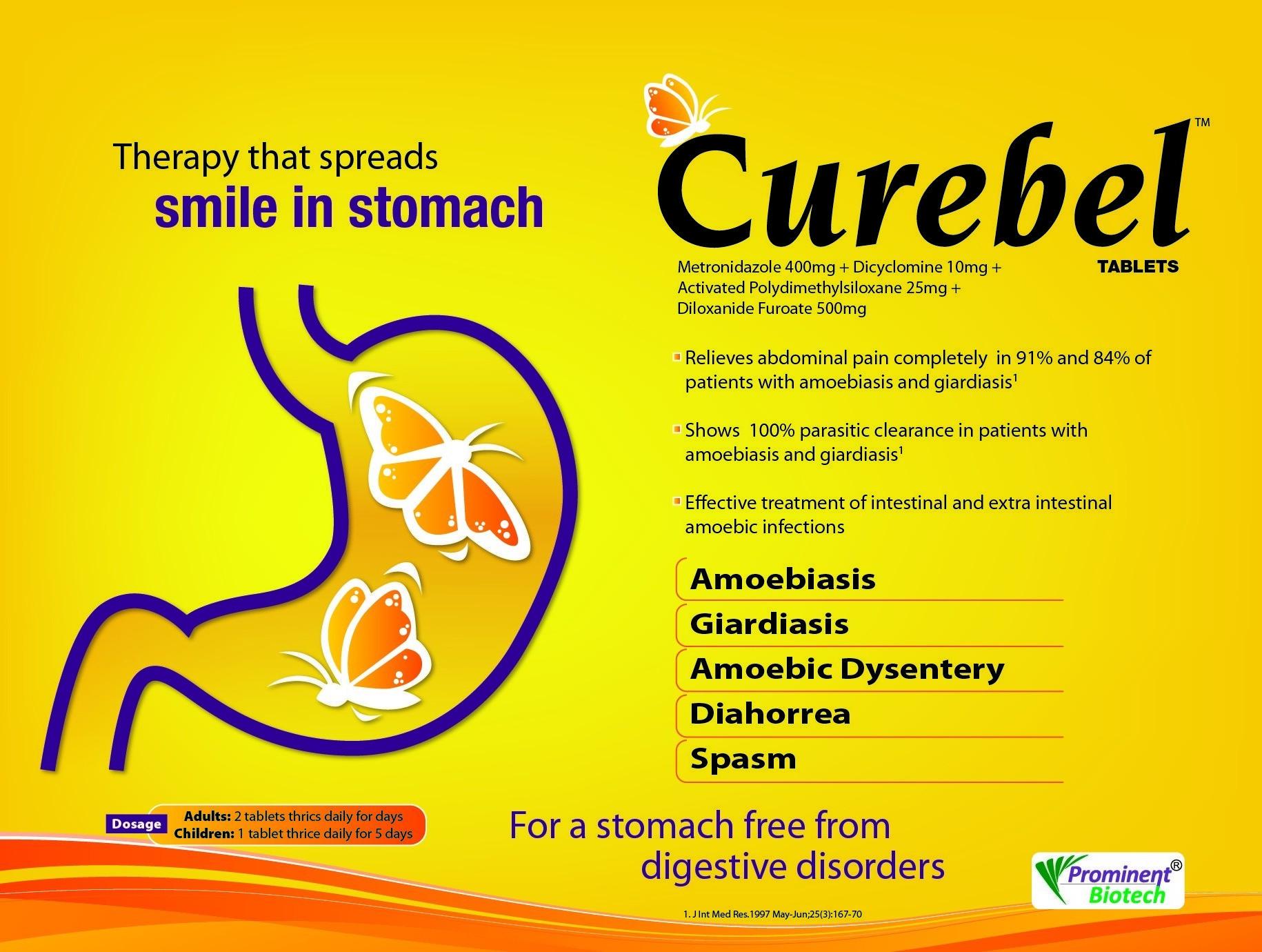 Dicyclomine 10 mg,Diloxanide Furoate 500 mg,Metronidazole 400 mg & Simethicone 25 mg