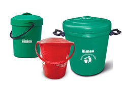 Round Plastic House Dustbin 10 Ltr