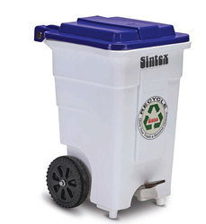 White Pvc Wheel Dustbin