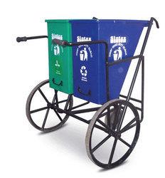 Green, Blue Wheel Dust Bin