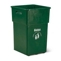 Military Green Open Top Waste Collection Basket Size: Height 660 mm