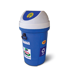 Plastic Dustbin with Lid, Capacity: 6-10 Liters