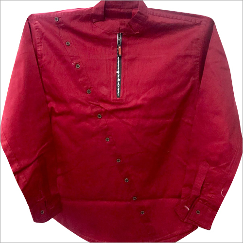 Mens Collar Short Kurta