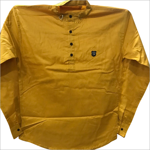 Mens Plain Short Kurta
