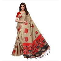 fancy saree with jhalar (tessals)