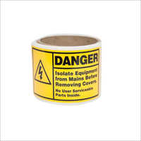 Yellow Safe Warning Paper Label