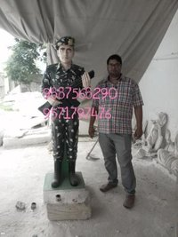 Marble Army Soldier Statue