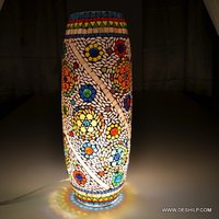 Long Mosaic Glass Table Lamp