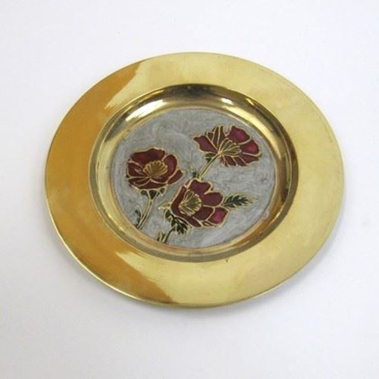 Solid Brass Tray Floral Design