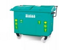Sintex Open Top Giant Wheeled Waste Bin for Industrial & Community Use