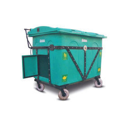 Sintex Green Outdoor Wheeled Dustbin, Size: 1455 mm