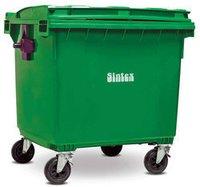 Plastic Green Industrial Waste Bin, Size: 660 Liters