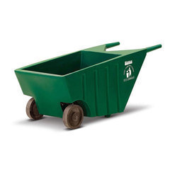 Plastic 2 Hand Cart for Waste Collocation with Wheel, Gwb 10-01, Size: 100 Liters