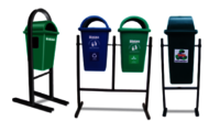 Outdoor Dustbin With Stand