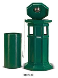 Open Top Green Hexagonal Litter Bins, Capacity: 60 Liters