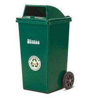 Green Outdoor Dustbin With Two Wheeled, Capacity: 100 L