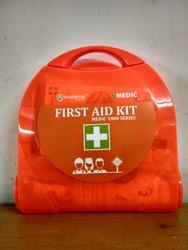 Plastic High Visibility Orange First Aid Box