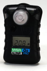 MSA Altair Pro O2 Gas Detector, 4.0 Oz Including Clip, for Industrial