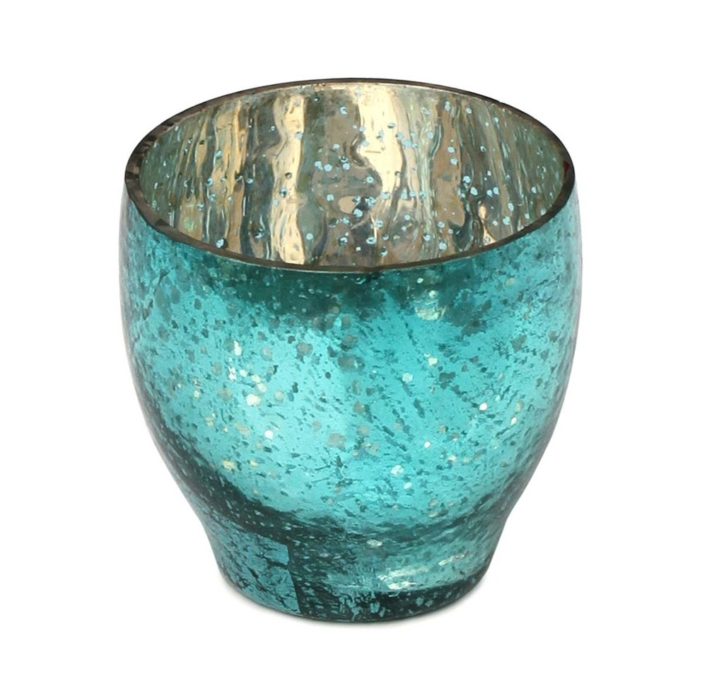 Tea Light Candle Holder Dotted & Mottled Glass