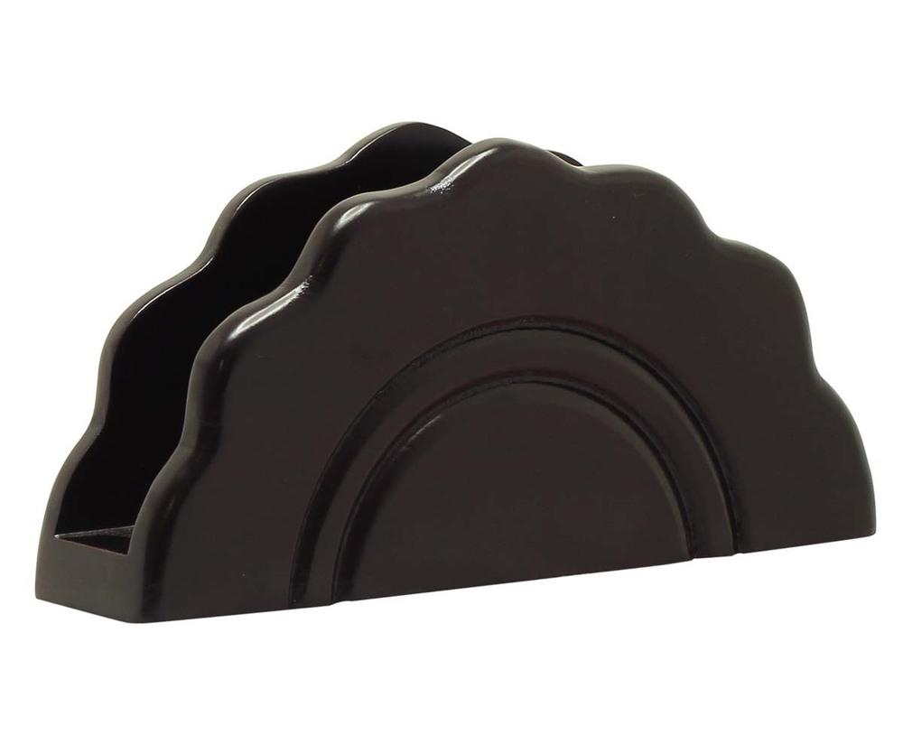 MDF Black Napkin and Tissue Holder