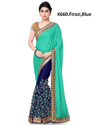 floral embroidered Georgette saree collection