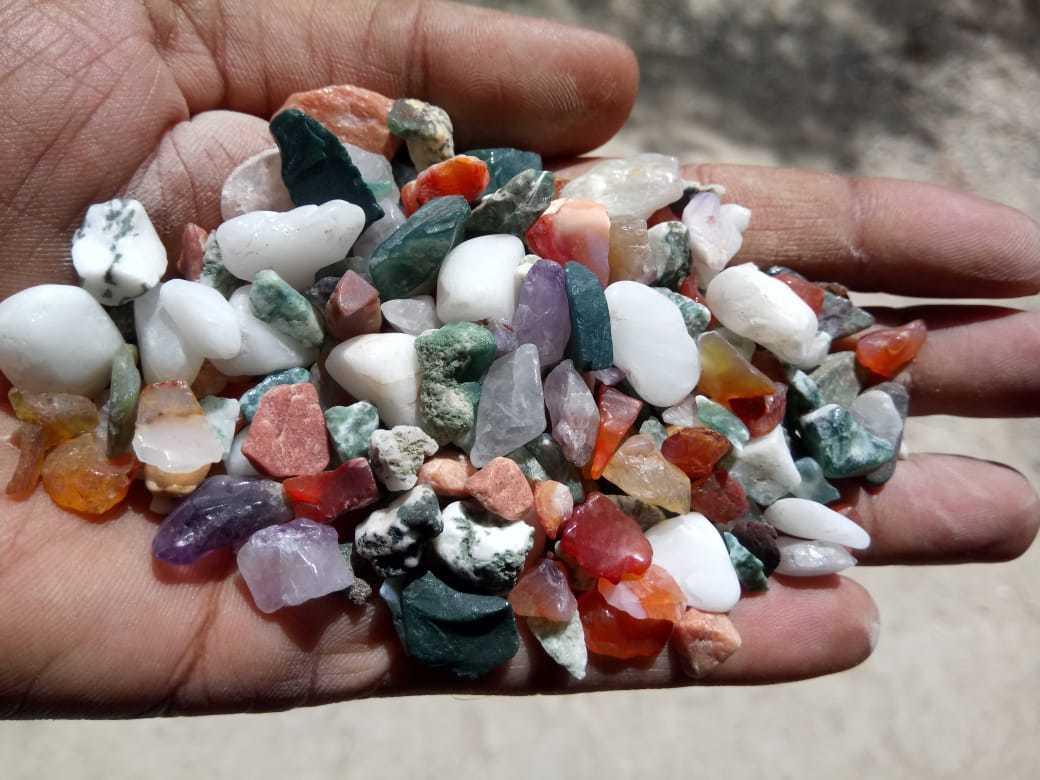 Nature mix color small round Aquarium Gravel stone & substrates