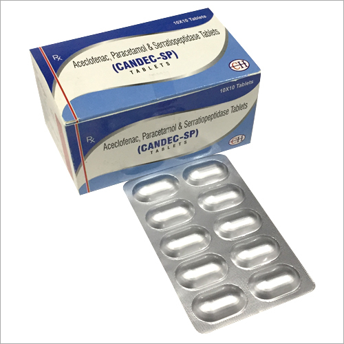 Aceclofenac Paracetamol and Serratiopeptidase Tablets