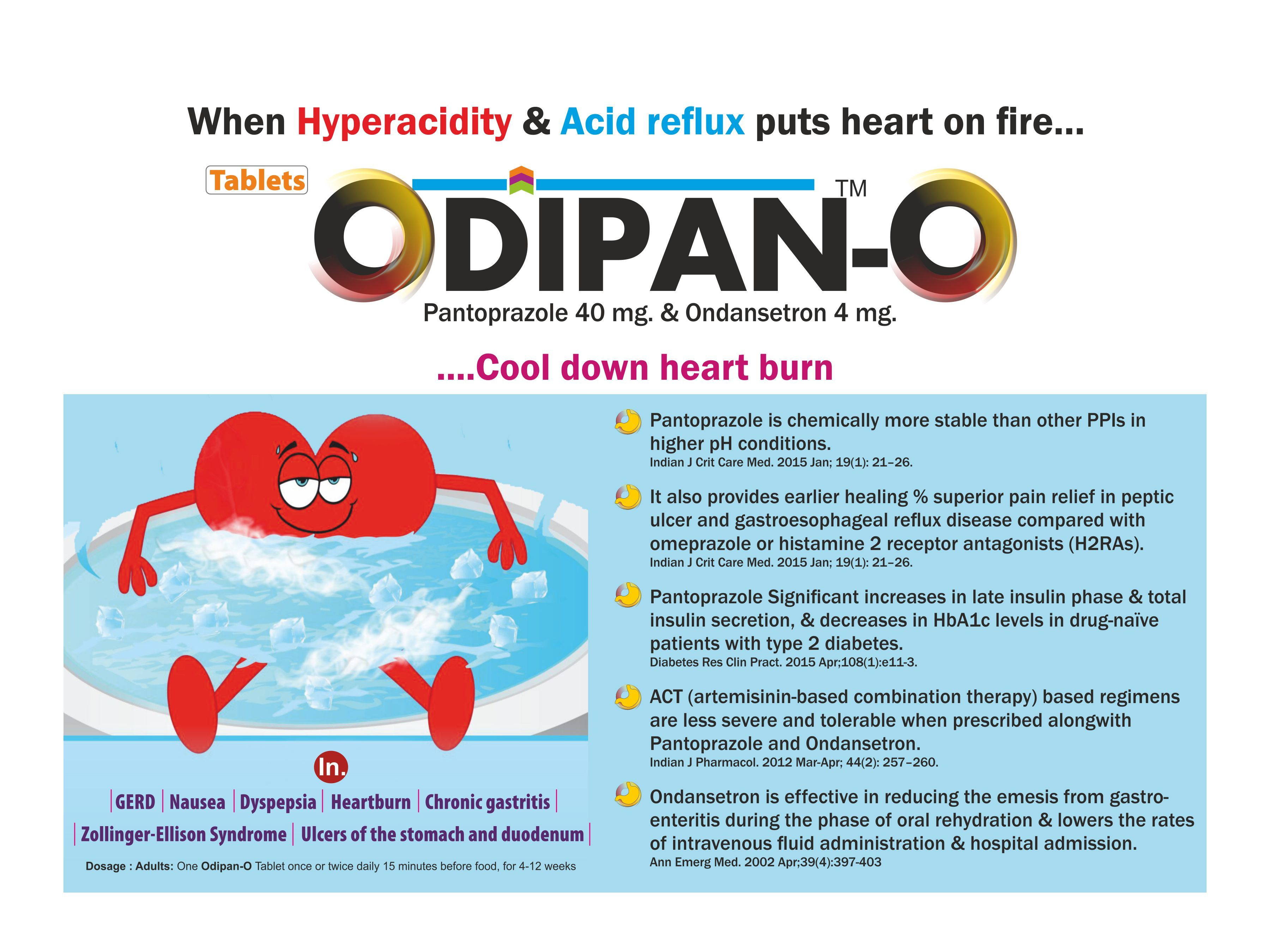Pantoprazole 40 mg & Ondansetron 4 mg Tablets