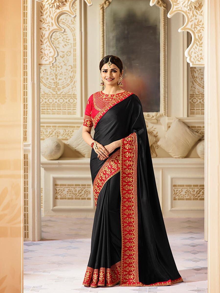 Designer Satin Silk Saree, Partywear Saree