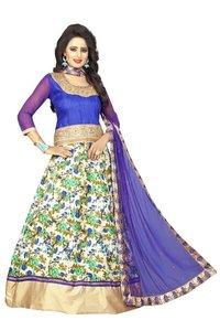 Floral Printed Anarkali Salwar Suit, Printed Suit