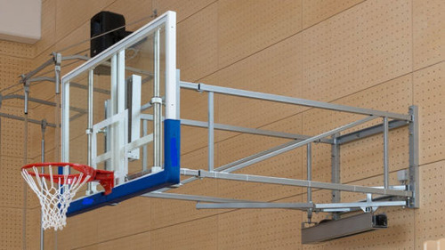 Basketball Post Wall Mounted System with 20mm Acrylic Board